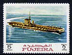 Fujeira 1968 Aircraft Carrier 5R from Ships perf set of 9 unmounted mint, Mi 242*