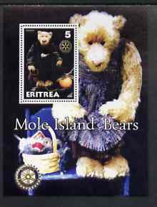 Eritrea 2001 Mole Island Teddy Bears perf m/sheet #2 (with Rotary logo) unmounted mint