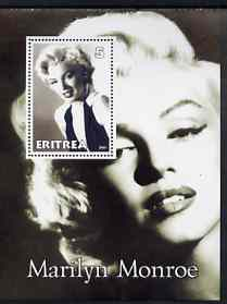 Eritrea 2001 Marilyn Monroe perf m/sheet #1 unmounted mint