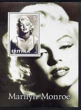 Eritrea 2001 Marilyn Monroe perf m/sheet #3 unmounted mint
