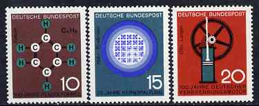 Germany - West 1964 Scientific Anniversaries (1st series) set of 3 unmounted mint SG 1345-47*