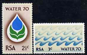South Africa 1970 Water Campaign set of 2 unmounted mint, SG 299-300