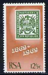 South Africa 1969 Centenary of First Transvaal Stamp 12 1/2c, unmounted mint, SG 298