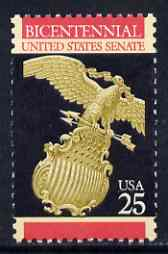 United States 1989 Bicentenary of Senate 25c (Eagle & Shield) unmounted mint SG 2397*