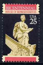 United States 1989 Bicentenary of House of Representatives 25c (Clock) unmounted mint SG 2396*