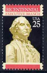United States 1989 Bicentenary of Executive Branch 25c (Statue of Washington) unmounted mint SG 2398*
