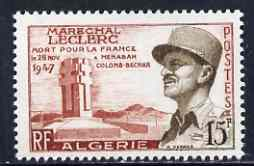 Algeria 1956 Marshal Leclerc Commemoration unmounted mint, SG 363*