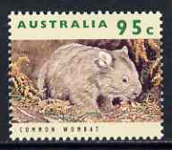 Australia 1992-98 Common Wombat 95c (from wildlife def set) unmounted mint SG 1369