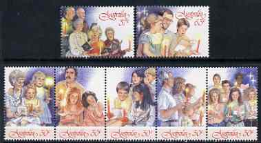 Australia 1987 Christmas set of 7 unmounted mint, SG 1098-1104