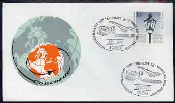 Postmark - West Berlin 1979 illustrated commem cover for IAPC Exhibition with illustrated Berlin 12 cancel showing Concorde & Zeppelin