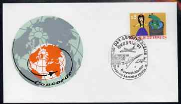 Postmark - Austria 1981 illustrated commem cover for Aerophilately Exhibition with illustrated cancel showing Concorde