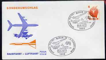 Postmark - West Germany 1977 illustrated commem cover for the 17th FISA Congress with illustrated Berlin 12 cancel showing Concorde