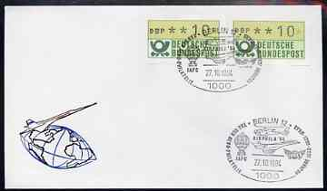 Postmark - West Germany 1984 illustrated commem cover for Aerophilatelic Day with illustrated Berlin 12 cancel showing Concorde, Helicopter & Balloon
