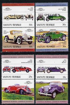 Tuvalu - Vaitupu 1984 Cars #1 (Leaders of the World) set of 8 opt'd SPECIMEN unmounted mint