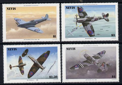 Nevis 1986 Spitfire set of 4 unmounted mint SG 372-5*