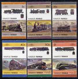 Tuvalu - Funafuti 1985 Locomotives #3 (Leaders of the World) set of 12 unmounted mint