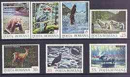 Rumania 1992 Animals perf set of 7 unmounted mint, SG 5478-84