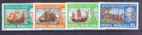 Rumania 1992 500th Anniversary of Discovery of America by Columbus set of 4 unmounted mint, SG 5466-69*
