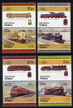 Tuvalu - Nukufetau 1985 Locomotives #1 (Leaders of the World) set of 8 unmounted mint