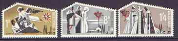 Malta 1968 Christmas set of 3 unmounted mint SG 409-11