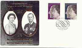 Great Britain 1972 Royal Silver Wedding set of 2 on illustrated cover with Windsor first day cancel