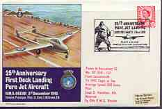 Great Britain 1970 Fleet Air Arm illustrated commem cover for 25th Anniversary of First Deck Landing with special FAA 3 Dec cancel