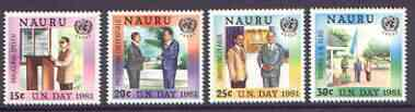 Nauru 1981 UN Day (ESCAP) set of 4 unmounted mint, SG 244-47*
