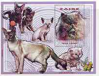 Zaire 1996 Domestic Cats perf m/sheet unmounted mint Mi BL74