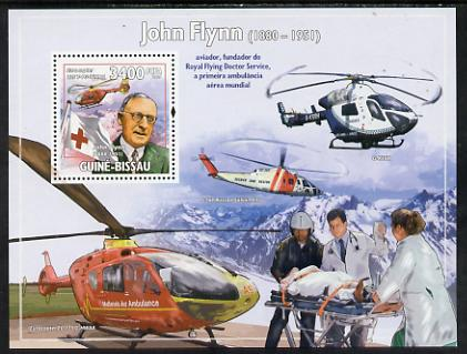 Guinea - Bissau 2009 John Flynn & Red Cross Helicopters perf s/sheet unmounted mint