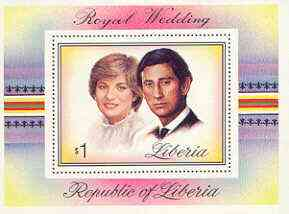 Liberia 1981 Royal Wedding perf m/sheet unmounted mint, SG MS 1493, Mi BL 98A