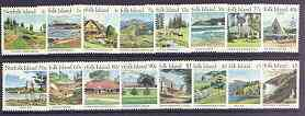 Norfolk Island 1987 Island Scenes definitive set complete 1c to $5 unmounted mint, SG 405-29