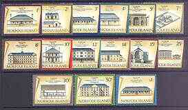 Norfolk Island 1973 Historic Buildings definitive set complete 1c to $1 unmounted mint, SG 133-48
