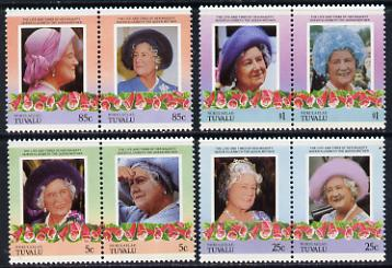 Tuvalu - Nukulaelae 1985 Life & Times of HM Queen Mother (Leaders of the World) set of 8 values unmounted mint