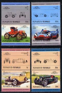 Tuvalu - Funafuti 1985 Cars #2 (Leaders of the World) set of 8 unmounted mint