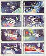 Bernera 1998 John Glenn Returned to Space opt in black on 1978 Spacecraft perf  set of 8 values (1p to 30p) unmounted mint