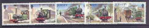 Jersey 1985 The Jersey Western Railway set of 5 unmounted mint, SG 365-69