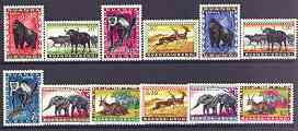 Ruanda-Urandi 1959 Fauna set of 12 complete unmounted mint, SG 203-14