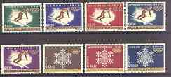 Paraguay 1963 Previous Winter Olympic Games perf set of 8 unmounted mint, Mi 1192-99
