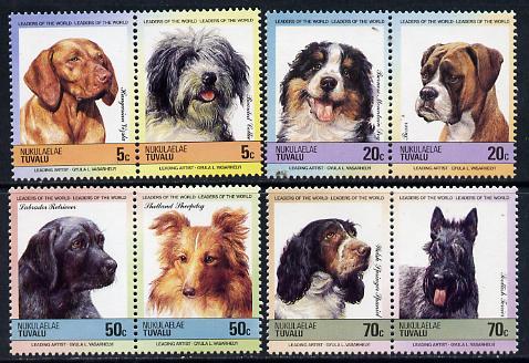 Tuvalu - Nukulaelae 1985 Dogs (Leaders of the World) set of 8 values unmounted mint