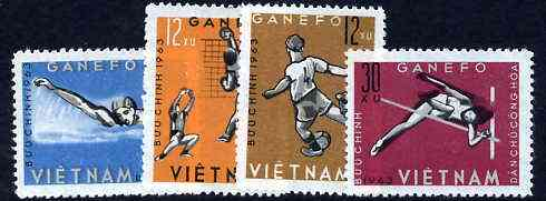 Vietnam - North 1963 GANEFO Athletic Games perf set of 4 unmounted mint, SG N284-87, Mi 283-86