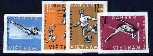 Vietnam - North 1963 GANEFO Athletic Games imperf set of 4 unmounted mint, as SG N284-87, Mi 283-86B