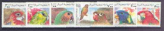 Somalia 1999 Parrots #02 perf set of 6 unmounted mint
