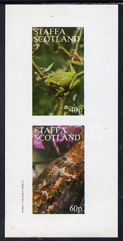 Staffa 1982 Animals (Frogs) imperf set of 2 values (40p & 60p) unmounted mint
