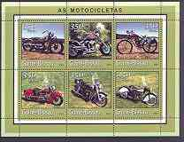 Guinea - Bissau 2001 Motorcycles perf sheetlet containing 6 values unmounted mint Mi 1761-66