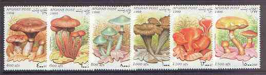 Afghanistan 1998 Fungi complete perf set of 6 unmounted mint, stamps on fungi