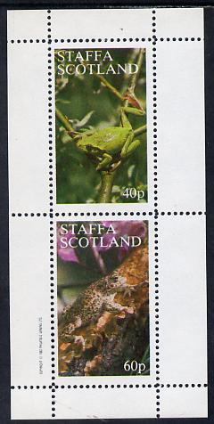 Staffa 1982 Animals (Frogs) perf set of 2 values (40p & 60p) unmounted mint