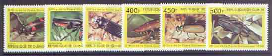 Guinea - Conakry 1998 Insects complete perf set of 6 values unmounted mint