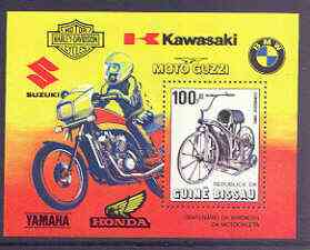 Guinea - Bissau 1985 Centenary of Motorcycle perf m/sheet unmounted mint, SG MS 919