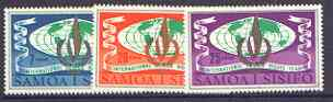 Samoa 1968 Human Rights Year set of 3 unmounted mint, SG 310-12