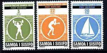 Samoa 1969 Third South Pacific Games set of 3 unmounted mint, SG 327-29